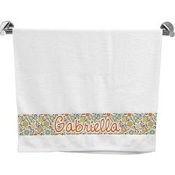 Swirls & Floral Bath Towel (Personalized)