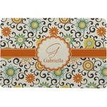 Swirls & Floral Comfort Mat (Personalized)