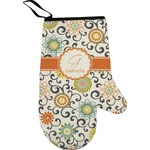 Swirls & Floral Oven Mitt (Personalized)