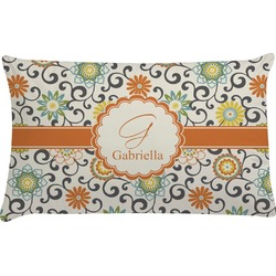 Swirls & Floral Pillow Case (Personalized)