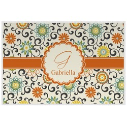 Swirls & Floral Placemat (Laminated) (Personalized)