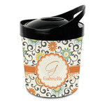 Swirls & Floral Plastic Ice Bucket (Personalized)
