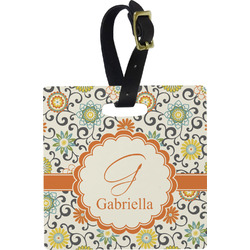 Swirls & Floral Luggage Tags (Personalized)