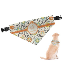Swirls & Floral Dog Bandana (Personalized)