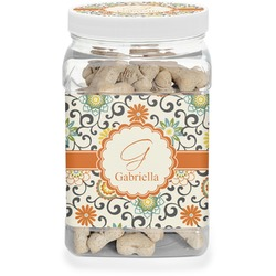 Swirls & Floral Pet Treat Jar (Personalized)