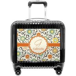 Swirls & Floral Pilot / Flight Suitcase (Personalized)