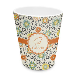 Swirls & Floral Plastic Tumbler 6oz (Personalized)