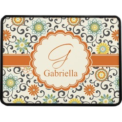 Swirls & Floral Rectangular Trailer Hitch Cover (Personalized)