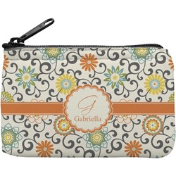 Swirls & Floral Rectangular Coin Purse (Personalized)