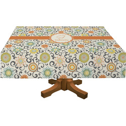 Swirls & Floral Tablecloth (Personalized)
