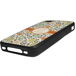 Swirls & Floral Rubber iPhone Case 4/4S (Personalized)