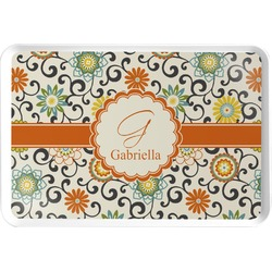 Swirls & Floral Serving Tray (Personalized)