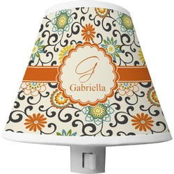 Swirls & Floral Shade Night Light (Personalized)