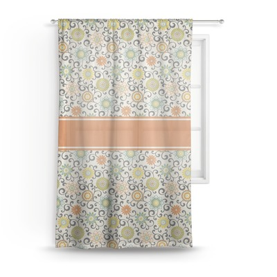 Swirls & Floral Sheer Curtains (Personalized)