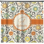 Swirls & Floral Shower Curtain (Personalized)