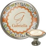 Swirls & Floral Cabinet Knobs (Personalized)