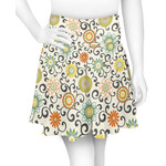Swirls & Floral Skater Skirt (Personalized)