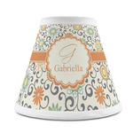 Swirls & Floral Chandelier Lamp Shade (Personalized)
