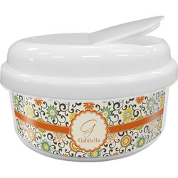Swirls & Floral Snack Container (Personalized)