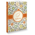 Swirls & Floral Softbound Notebook (Personalized)