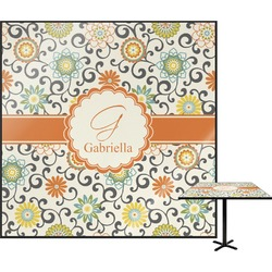 "Swirls & Floral Square Table Top - 30"" (Personalized)"
