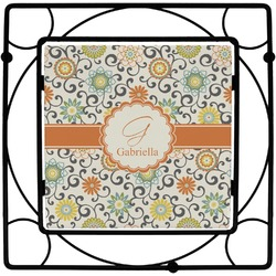 Swirls & Floral Trivet (Personalized)