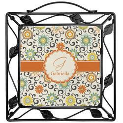 Swirls & Floral Trivet (Personalized)