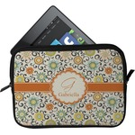 Swirls & Floral Tablet Case / Sleeve (Personalized)