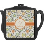 Swirls & Floral Teapot Trivet (Personalized)