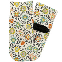 Swirls & Floral Toddler Ankle Socks (Personalized)
