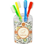 Swirls & Floral Toothbrush Holder (Personalized)