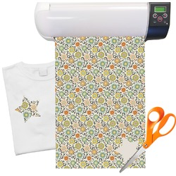 "Swirls & Floral Heat Transfer Vinyl Sheet (12""x18"")"