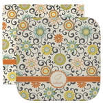 Swirls & Floral Facecloth / Wash Cloth (Personalized)