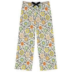 Swirls & Floral Womens Pajama Pants (Personalized)