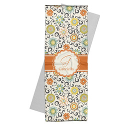 Swirls & Floral Yoga Mat Towel (Personalized)