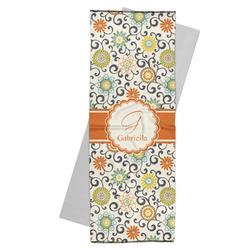Swirls & Floral Yoga Mat Towel (Personalized)
