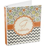 Swirls, Floral & Chevron 3-Ring Binder (Personalized)