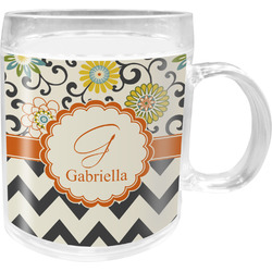 Swirls, Floral & Chevron Acrylic Kids Mug (Personalized)