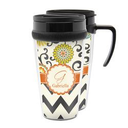 Swirls, Floral & Chevron Acrylic Travel Mugs (Personalized)