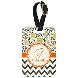 Swirls, Floral & Chevron Aluminum Luggage Tag (Personalized)