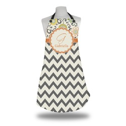Swirls, Floral & Chevron Apron (Personalized)