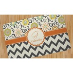 Swirls, Floral & Chevron Area Rug (Personalized)