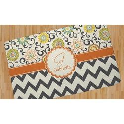 Swirls, Floral & Chevron Area Rug (Personalized)