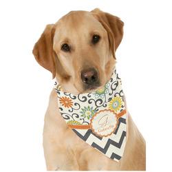 Swirls, Floral & Chevron Dog Bandana Scarf w/ Name and Initial