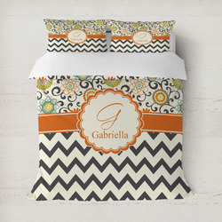 Swirls, Floral & Chevron Duvet Covers (Personalized)