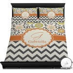 Swirls, Floral & Chevron Duvet Cover Set (Personalized)