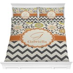 Swirls, Floral & Chevron Comforter Set (Personalized)