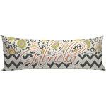 Swirls, Floral & Chevron Body Pillow Case (Personalized)