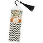 Swirls, Floral & Chevron Book Mark w/Tassel (Personalized)