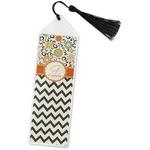 Swirls, Floral & Chevron Book Mark w/Tassel (Personalized)